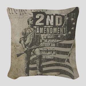 2nd Amendment Woven Throw Pillow
