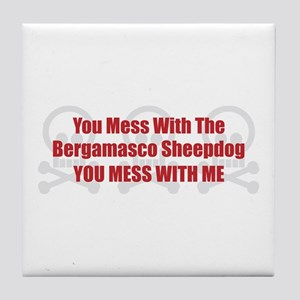 Mess With Bergamasco Tile Coaster