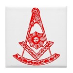 Masonic Design on Tile Coaster