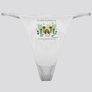 gardening with my dog Classic Thong