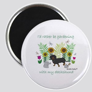 gardening with my dog Magnet
