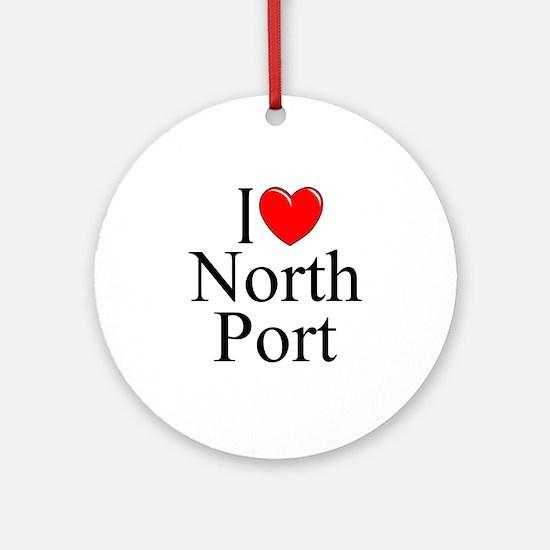 """I Love North Port"" Ornament (Round)"