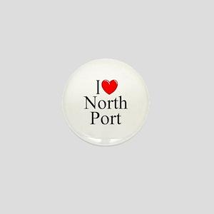 """""""I Love North Port"""" Mini Button"""