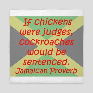 If Chickens Were Judges Queen Duvet