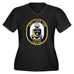 USS CAPE COD Women's Plus Size V-Neck Dark T-Shirt
