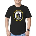 USS CAPE COD Men's Fitted T-Shirt (dark)