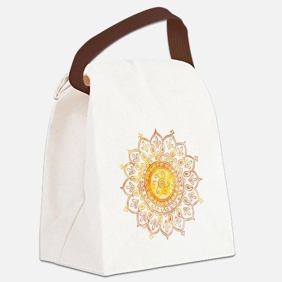 Decorative Sun Canvas Lunch Bag