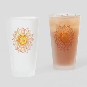 Decorative Sun Drinking Glass