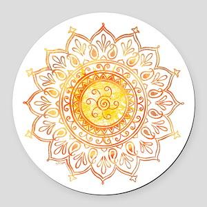 Decorative Sun Round Car Magnet