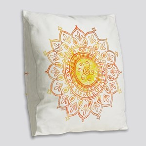 Decorative Sun Burlap Throw Pillow