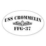 USS CROMMELIN Sticker (Oval)