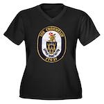 USS CROMMELI Women's Plus Size V-Neck Dark T-Shirt