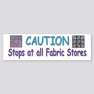 Fabric Bumper Sticker