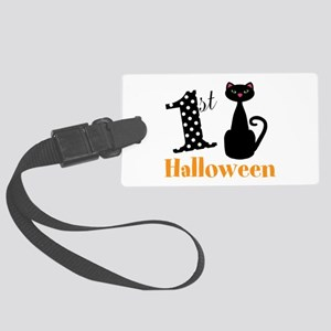 1st Halloween Cat Luggage Tag