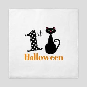 1st Halloween Cat Queen Duvet