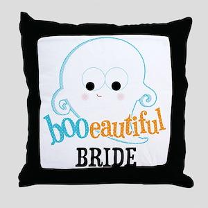 Booeautiful Bride Throw Pillow