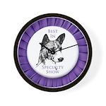 Basenji Best In Specialty Show Wall Clock