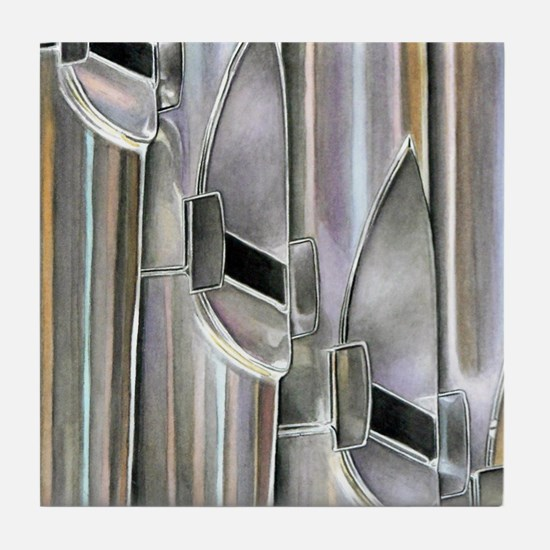 Organ Pipes Tile Coaster