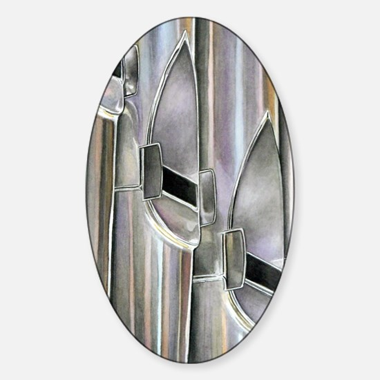 Organ Pipes Sticker (Oval)