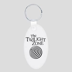 Twilight Zone Aluminum Oval Keychain