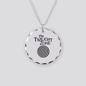 Twilight Zone Necklace Circle Charm
