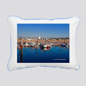 Provincetown Harbor Rectangular Canvas Pillow