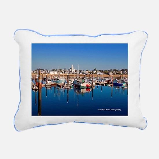 Provincetown Harbor Rectangular Canvas Pillow