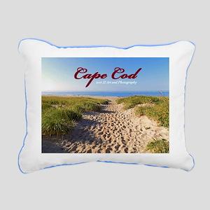 Cape Cod Beach Rectangular Canvas Pillow