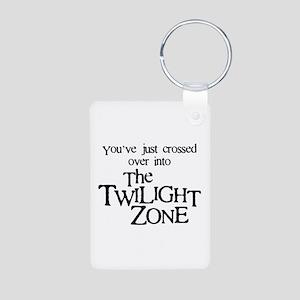 Into The Twilight Zone Aluminum Photo Keychain