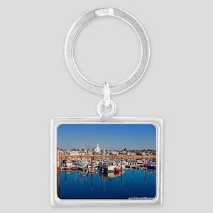Provincetown Harbor Landscape Keychain Keychains