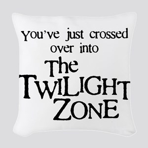 Into The Twilight Zone Woven Throw Pillow