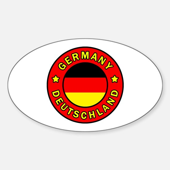Funny Hamburg state flag Sticker (Oval)