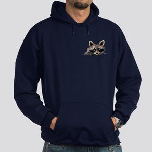 Pocket Raccoon Hoodie (dark)