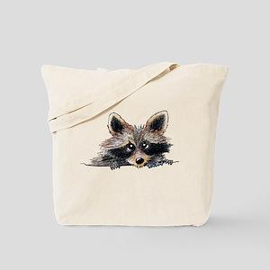 Pocket Raccoon Tote Bag