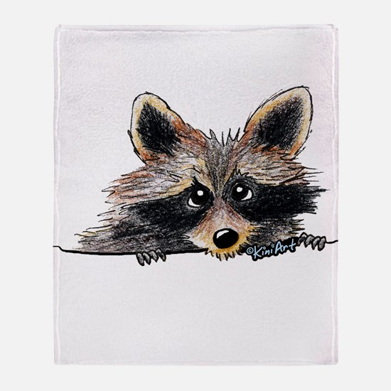 Pocket Raccoon Throw Blanket