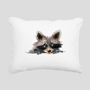 Pocket Raccoon Rectangular Canvas Pillow