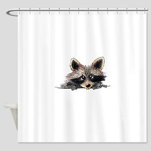 Pocket Raccoon Shower Curtain