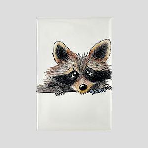 Pocket Raccoon Rectangle Magnet