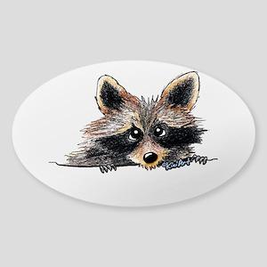 Pocket Raccoon Sticker (Oval)