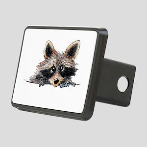 Pocket Raccoon Rectangular Hitch Cover