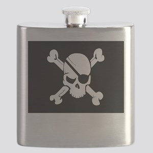 Jolly Roger Pirate Flag Flask