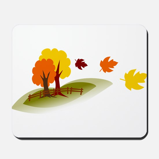 Fall trees Mousepad