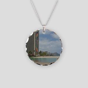 Duke Kahanamoku Beach Necklace Circle Charm