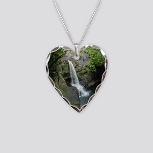 Seven Sacred Pools Necklace Heart Charm
