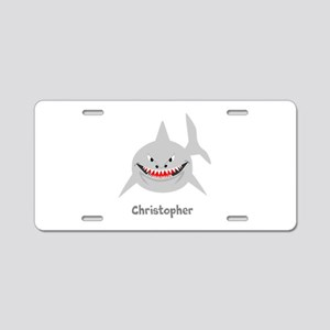 Personalized Shark Design Aluminum License Plate