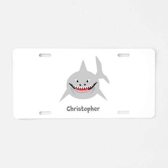 Personalized Shark Design Aluminum License Plate