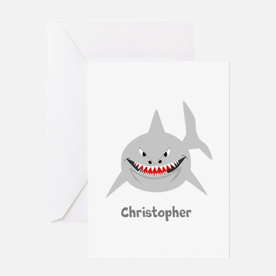 Personalized Shark Design Greeting Cards