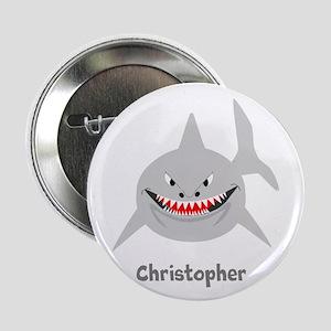 "Personalized Shark Design 2.25"" Button"