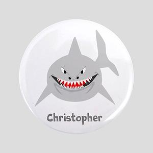 "Personalized Shark Design 3.5"" Button"