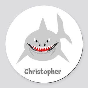 Personalized Shark Design Round Car Magnet